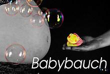 Baby Bauch mit Text