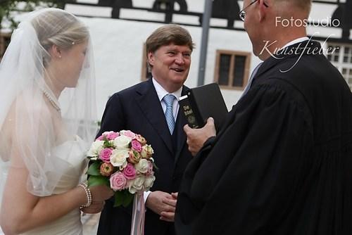 Braut mit Vater