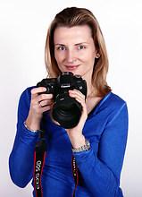 Sandra-Foto mit Kamera