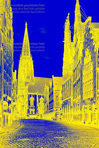 Prinzipalmarkt in blau / gelb