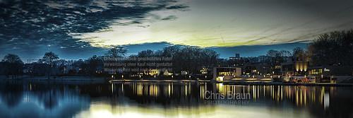 Der Aasee bei Nacht