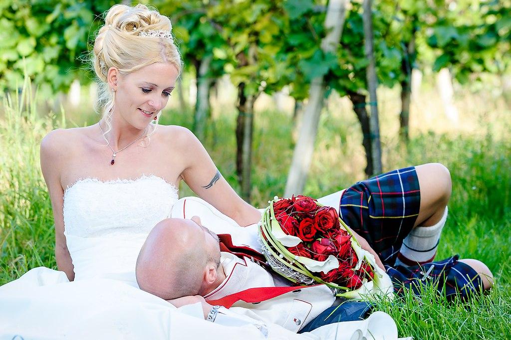 | ... schick im Kilt | Hochzeitsfotograf, Kilt, Hochzeit Brautpaar