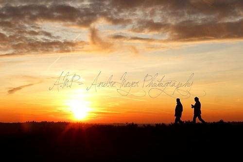 Brunsberg - Wanderer im Sonnenuntergang