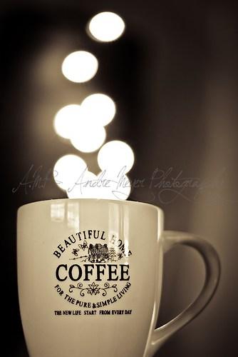 dampfender Kaffeebecher