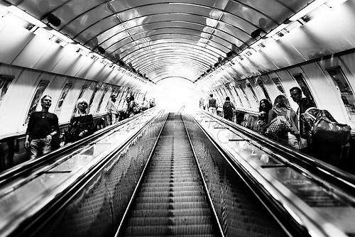 Prag - U-Bahn-Rolltreppen