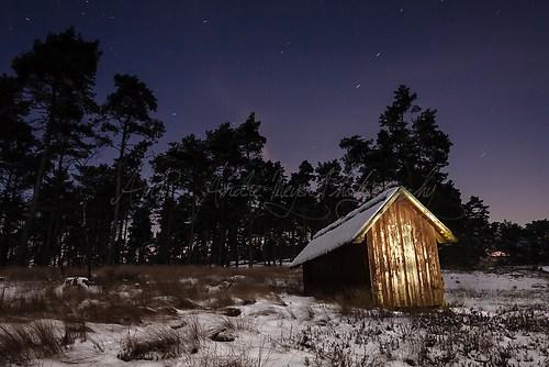 Brunsberg - Bienenhaus bei Nacht