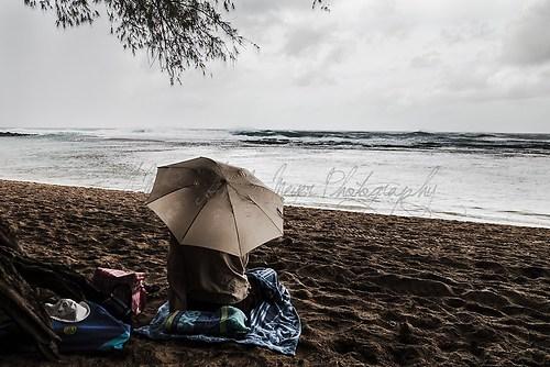 Kauai - Kee' Beach - im Regen