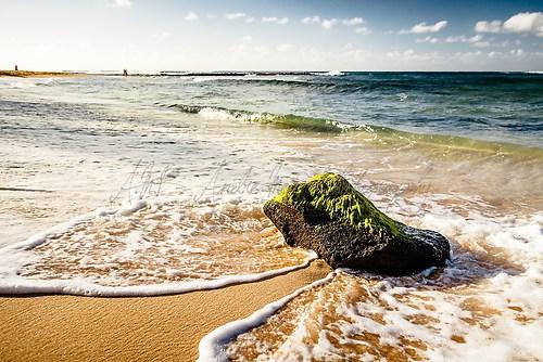 Kauai - Stein in den Wellen