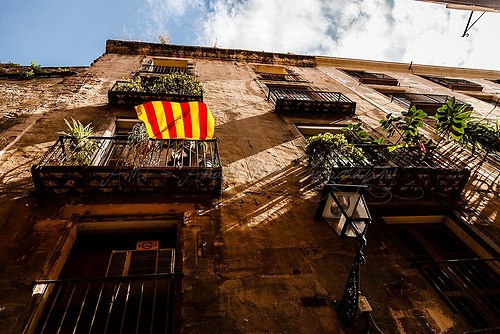 Barcelona - katalanische Flagge