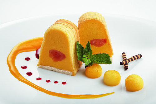Mango-Papaya Mousse