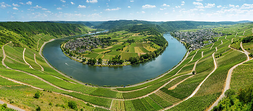 Panorama Moselschleife Kröv