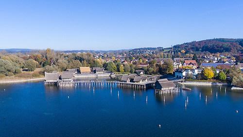 Pfahlbauten in Unteruhldingen am Bodensee (DJI_0002)