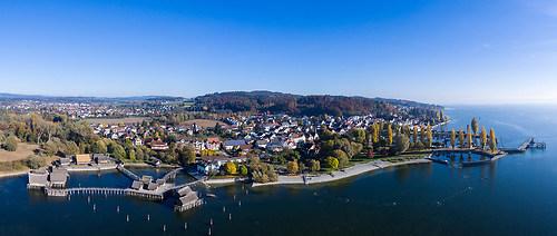 Pfahlbauten in Unteruhldingen am Bodensee (DJI_0003-Pano)
