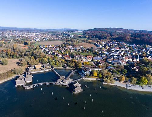 Pfahlbauten in Unteruhldingen am Bodensee (DJI_0008)