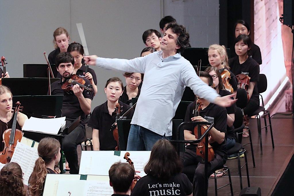 Proben Sanderling (IMG_0075_fotonick_2016_4) | Orchesterakademie Proben mit Michael Sandreling-Foto Axel Nickolaus