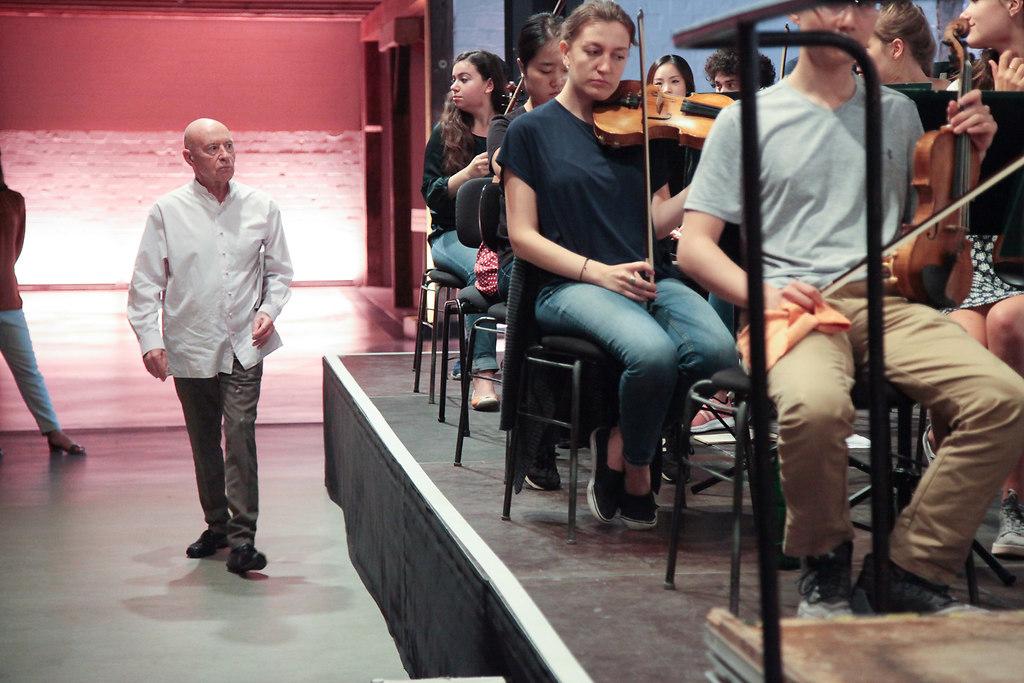 Eschenbach Proben (fotonick-AN-6622) | Orchesterproben mit Christoph Eschenbach und dem SHFO-Foto Axel Nickolaus | fotonick Kiel, nick Kiel