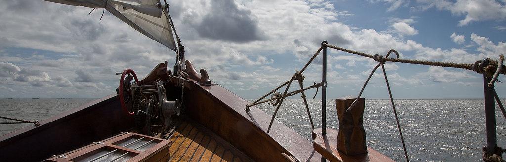 Hochzeit auf einem Segelschiff auf der Nordsee