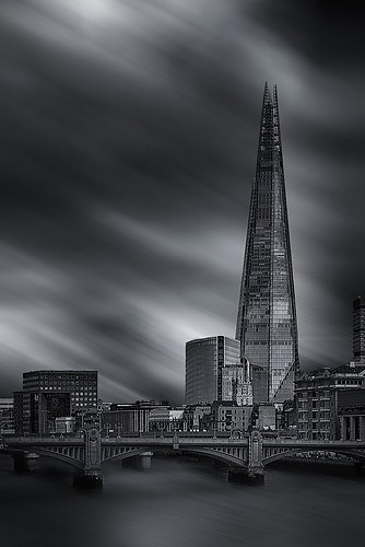 London und Themse in bw
