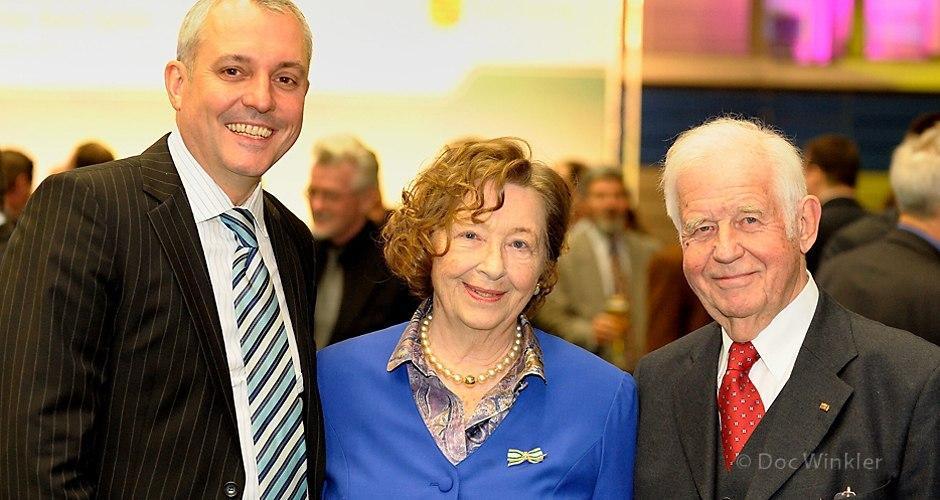 Biedenkopfs | Paul K. Korn, Geschäftsführer Lichtenauer Mineralquellen/Margon Brunnen, mit Ingrid Biedenkopf...