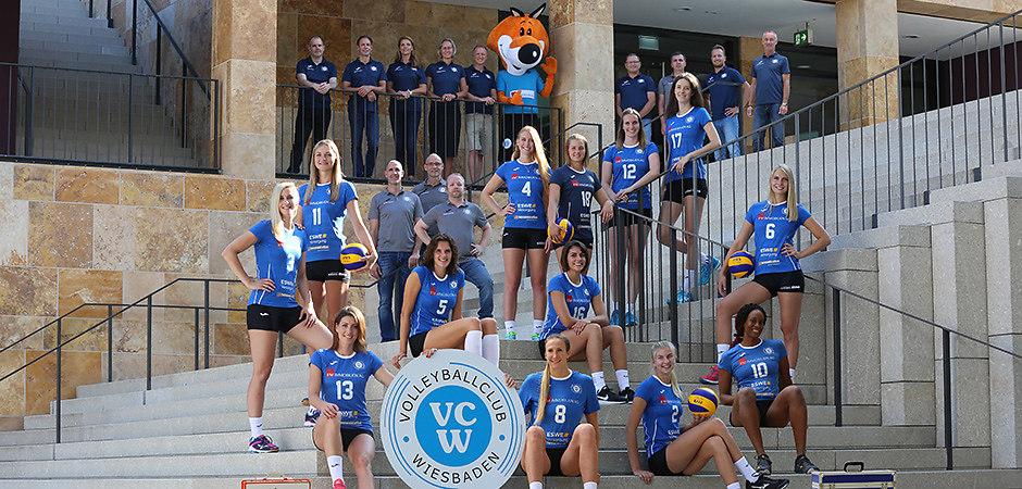 vc-wiesbaden_saison-2018-2019_foto-detlef-gottwaldjpg | VC Wiesbaden | 1. Volleyball-Bundesliga | Saison 2018-2019 | Foto: Detlef Gottwald |...