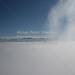 Herzogstand Walchensee (100214bmw42_IMG_5857) - 14.02.2010; über den Wolken auf dem Herzogstand in Oberbayern mit Blick auf das Wolkenmeer und die Bergspitzen