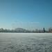 Wesslinger See Oberbayern im Winter (20090110_bmw42_DSCN0063) - Wesslingersee, Weßling, Ufer, Winter, Schilf, Natur, 10.01.2009, Winter, Blick auf Häuser des Ortes