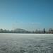 Wesslinger See Oberbayern im Winter (20090110_bmw42_DSCN0066) - Wesslingersee, Weßling, Ufer, Winter, Schilf, Natur, 10.01.2009, Winter, Blick auf Häuser des Ortes