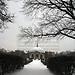 München Odeonsplatz Winter (B1001bmw42_8828) - 08.01.2010; München; Odeonsplatz; Pavillon hinter der Staatskanzlei, Rondell im Winter, bewölkter Himmel und Schnee