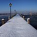 footbridge with snow (B101216_1876) - footbridge with snow at starnberger see