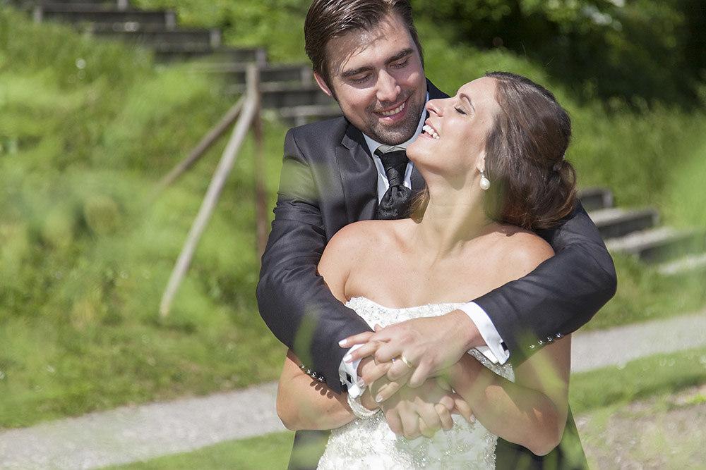 Das Brautpaar allein