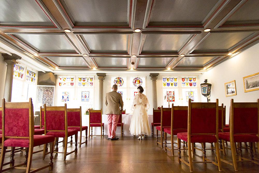 Das Brautpaar vor der Zeremonie