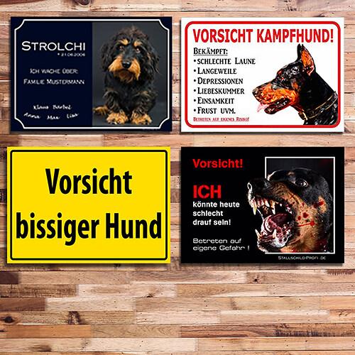 Hundeschilder  Kategoriebild