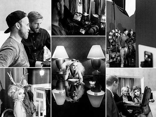 Filmset - Dreharbeiten hinter den Kulissen - Schwarz/Weiß