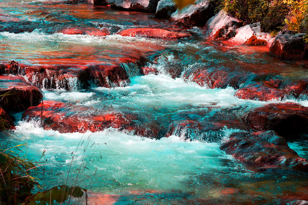 Stonewashed (Stonewashed) | Stretch of running water | stones, water, stream, creek, red colored, no people, recreational, weeds, scenic, tranquil
