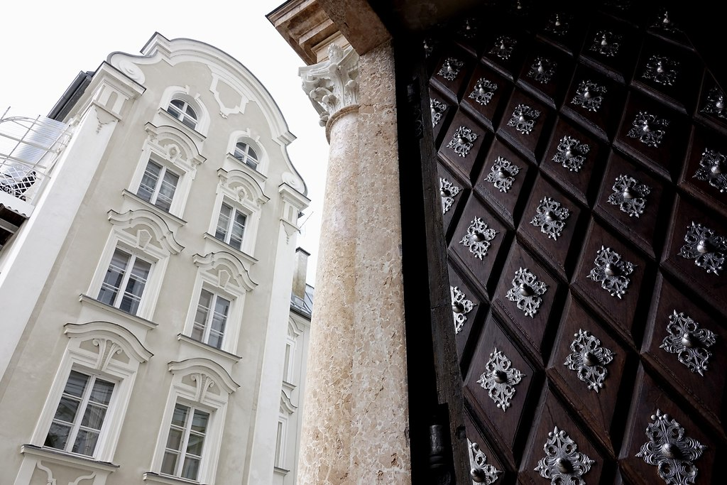 Verticals  (Verticals) | Low angle view of a church door and places of worship  | Germany, Passau, church, Place of worship, door, windows, verticals