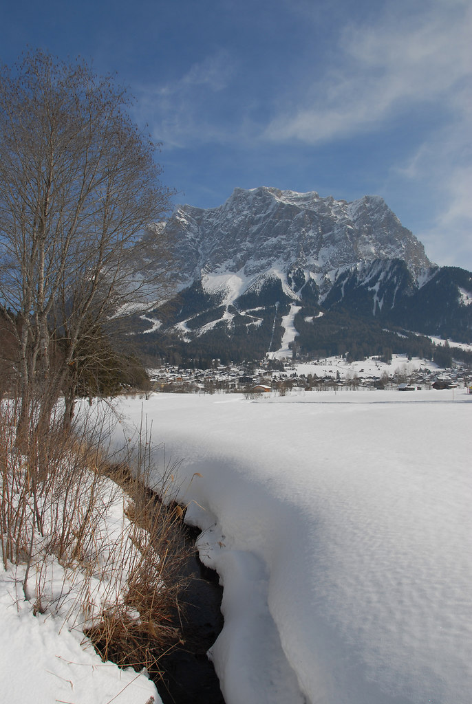 Zugspitze 2964m von Ehrwald und Lermoos WINTER 2009