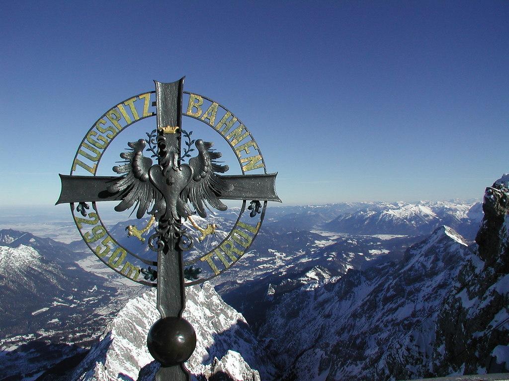 Zugspitze mit Zugspitzbahnen Wappen 2002