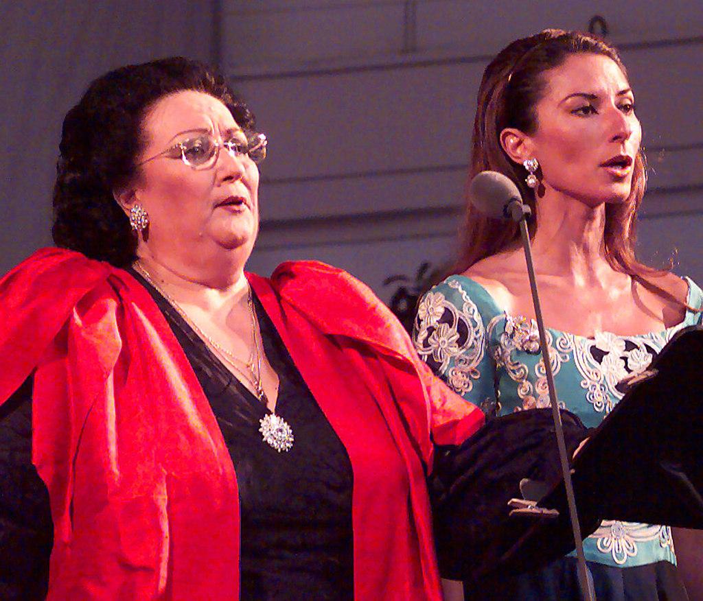 Caballe Montserrat und Tochter Marti WIESBADEN 1999 2 | Stichwort : CABALLE  an DPA / WIESBADENMontserrat Caballé und Tochter Montserrat...