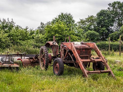 Der alte Traktor