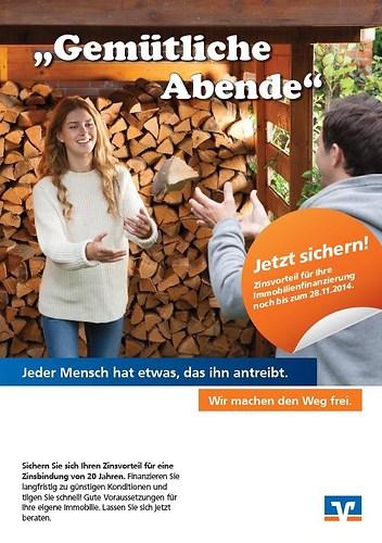 Werbe Kampagne für die Volksbanken