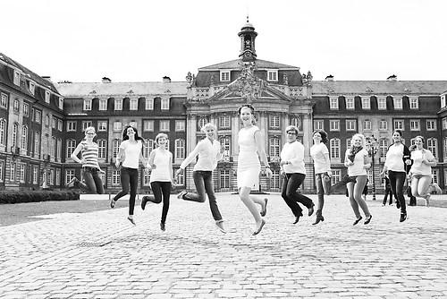 Junggesellinnen Abschied vor dem Schloss in Münster