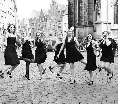 Junggesellinnen Abschied auf dem Prinzipalmarkt von Münster