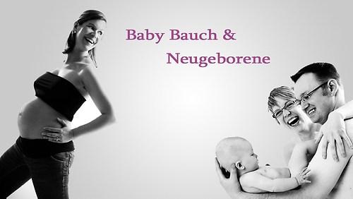 Baby Bauch und Neugeborene