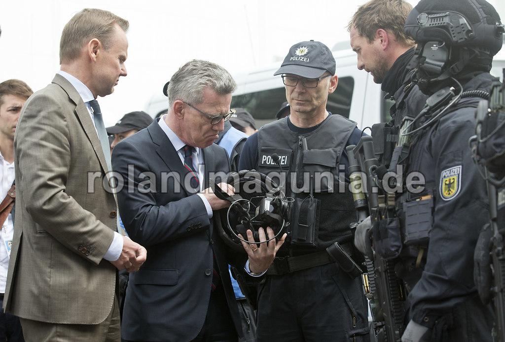 Helmchen | G20 Gipfel Vorbereitungen in Hamburg am Dienstag (04.07.2017) Hamburgs Innensenator Andy Grote ...