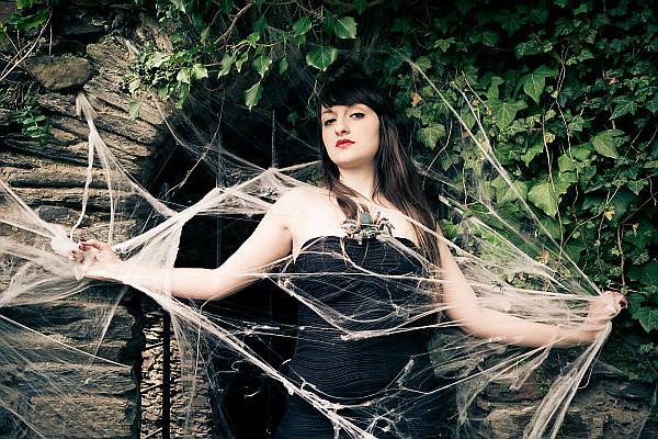 Woman in the cobweb (MR_1918) | A young woman with long hair in a spider web | woman, attractive, cobweb, girl, hair, glamour, horror, spider, tarantula, female, fashion, face, spooky, young, portrait, adult, Wall, black, ruins, mystery, beautiful, model, make-up, person, web, human, style, sexy, pretty, sensuality, Leaves, nature, eyes, lady, dark, fantasy, halloween, beauty, net, white, magic, witch, creep, art, one