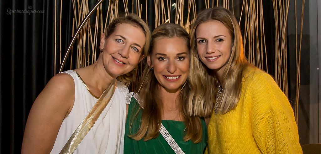 UPPER AUSTRIA LADIES 2018 (181008bmmac1) | SPORT, TENNIS , UPPER AUSTRIA LADIES 2018,  IM BILD: vl Reichl, Schett, Hass FOTO:... | AUSTRIA, LINZ, TENNIS, UPPER AUSTRIA LADIES 2018, WTA