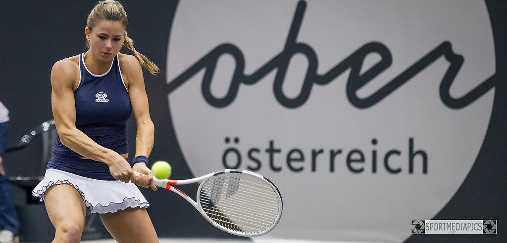 UPPER AUSTRIA LADIES 2018 (181014bm_5259) | SPORT, TENNIS , UPPER AUSTRIA LADIES 2018,  IM BILD:  Ekaterina ALEXANDROVA (RUS) - Camila... | AUSTRIA, LINZ, TENNIS, UPPER AUSTRIA LADIES 2018, WTA