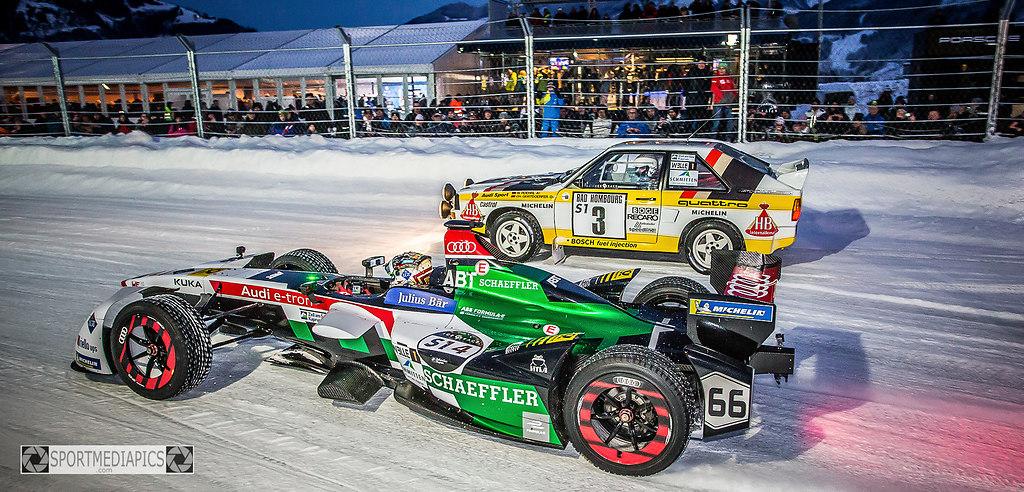 ICE GP 2019 (190119bm_9947) | SPORT, MOTORSPORT, ICE GP 2019, 19.-20. JÄNNER,  IM BILD:  FOTO: SPORTMEDIAPICS.COM / MANFRED BINDER | AUDI, Abt, BRR, ICE GP 2019, Porsche, RALLYE, Röhrl, Wagner