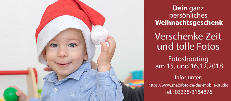 Werbung Bernau Live Fotogeschnek Weihnachten 2018