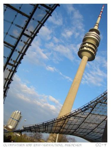olympiaturm und bmw-hauptverwaltung muenchen
